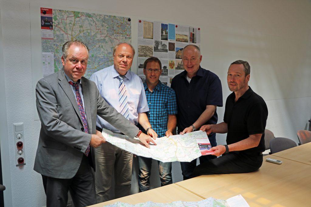 Pressefoto Stadtplan